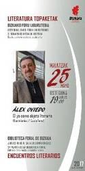 Literatura topaketak: Álex Oviedo