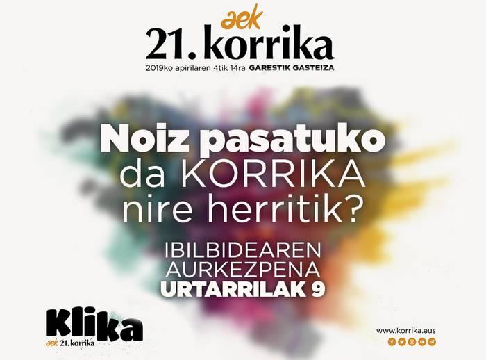 Apirilaren 10ean pasatuko da Korrika Uribe Kostatik