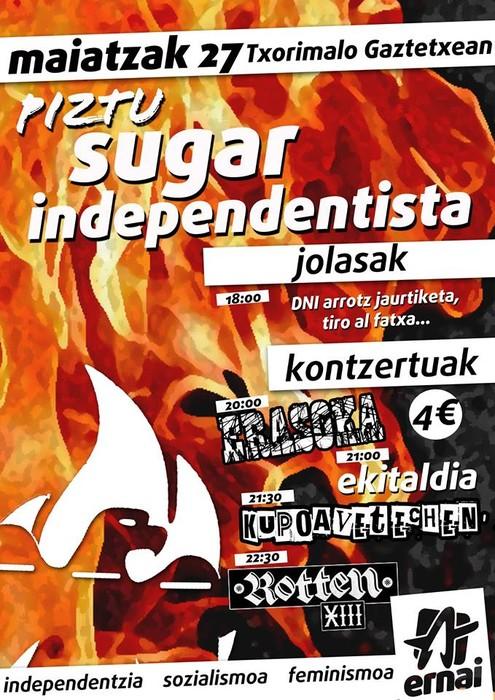 Piztu sugar independentista!
