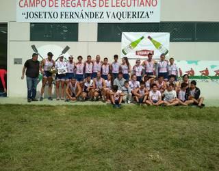 Raspas arraun taldeko kirolariek 18 domina eskuratu dituzte Euskadiko Txapelketan
