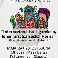 """Berbaldia: """"Internazionalistak garelako, lehen urratsa Euskal Herria"""""""