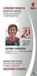 Literatura topaketak: Esther Zorrozua