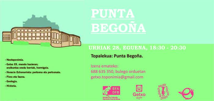 Punta Begoñako galerien bisita toponimikoa