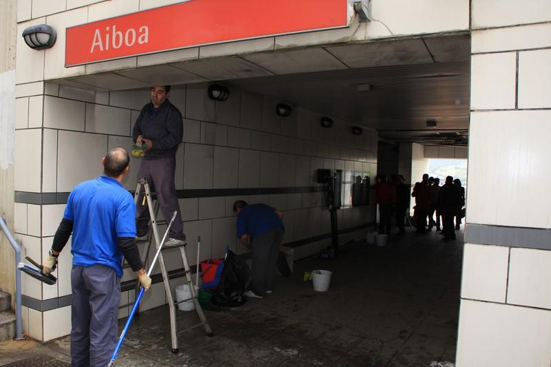 Aiboa metro-geltokiko sarbidearen segurtasuna hobetuko du Getxoko Udalak