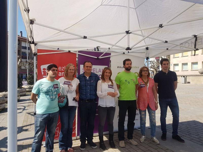 Elkarrekin Podemosen hautagaitza aurkeztu dute maiatzeko udal-hauteskundeetarako