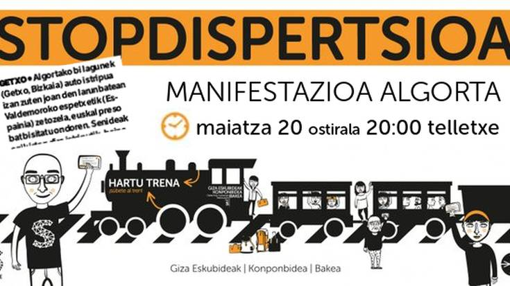 """""""StopDispertsioa"""" manifestazioa ostiralean Algortan"""