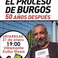 """""""El proceso de Burgos. 50 años después"""" liburuaren aurkezpena"""