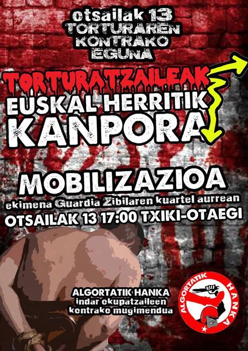 Torturatzaileak Euskal Herritik Kanpora!