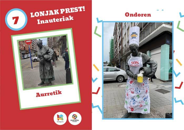 Lonja-prest: Erandioko estatuak apaintzeko lehiaketa