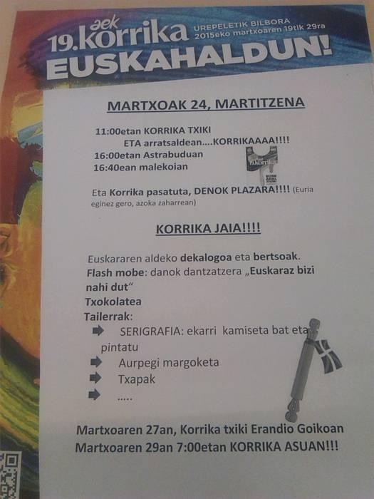Martitzenean, Korrika jaia Erandion!!!