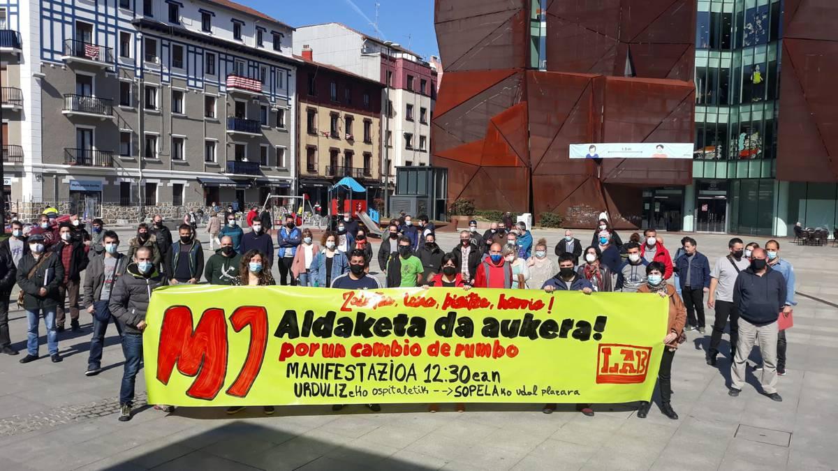 Aldaketa eskatzeko manifestazioa egingo dute maiatzaren 1ean Urdulizen